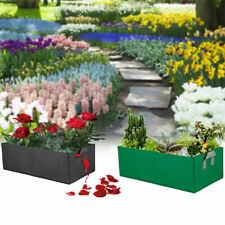 Garden Grow Bag Fabric Container Vegetable Flower Planting Planter Rectangle Bed