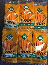 HUGE LOT of 60 BIC Sensitive Disposable Razors (6x10)