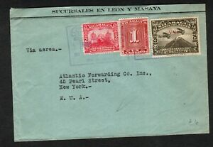 Nicaragua 1930 Air Mail Cover to New York, USA