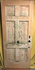 Unique Antique 6 Panel Wood Exterior Entry Door 34x78