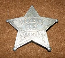 "Deputy U.S. MARSHAL 2-5/8"" Obsolete Antique Star Badge ESTATE FIND GOOD SHAPE"
