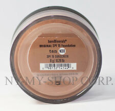 BARE MINERALS ESCENTUALS SPF 15 Foundation - TAN N30 - 8G - XL - FREE Shipping