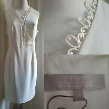 Fenn Wright Manson White Dress size 14 (9-3)