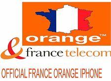 IPhone se 6s 6s PLUS 6 PLUS 6 5s ORANGE FRANCIA Ufficiale del codice di sblocco (1-12 ore)