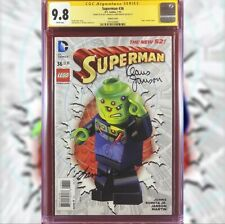 SUPERMAN #36 LEGO VARIANT COVER CGC 9.8 SS SIGNED BY KLAUS JANSON & LAURA MARTIN