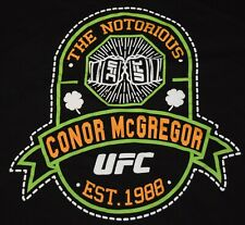 NOTORIOUS CONOR MCGREGOR MMA SHIRT SIZE XL TSHIRT UFC RARE IRELAND