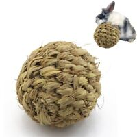 Pet Chew Toy Natural Grass Ball with Bell for Rabbit Hamster Guinea Pig Too U5Z2