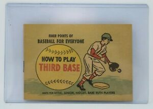 FINER POINTS OF BASEBALL HOW TO PLAY THIRD BASE COMIC MINI PROMO 1965 NM