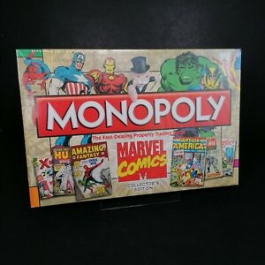 NEW Monopoly Disney Marvel Comics Collector Edition Board Game Avengers Complete