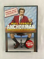 Anchorman The Legend of Ron Burgundy DVD 2004 Extended Edition Widescreen