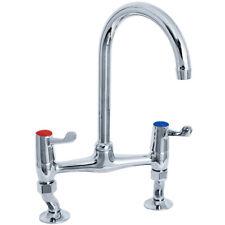 """Deva DLT305B 3"""" Lever Kitchen Sink Mixer Tap Swival Spout Utility Commercial"""