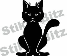 Cute Sitting Cat Car Window Camper Van Wall Decorative Stickers Decal CA11