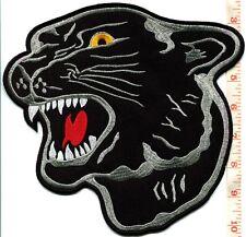 Black panther cat puma jaguar leopard iron-on HUGE XL patch 8.13 X 8.5 in S-501