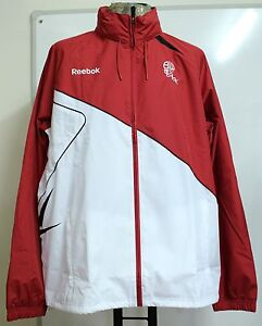 BOLTON WANDERERS RED & WHITE RAIN JACKET BY REEBOK SIZE MEN'S LARGE BRAND NEW