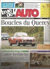 LA VIE DE L'AUTO N°1078 BOUCLES DU QUERCY / BERLINETTE / GP DE PERPIGNAN 46