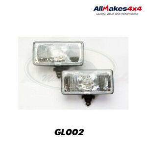 LAND ROVER LONG RANGE SQUARE RECTANGULAR FOG LAMP SET GL002 ALLMAKES4x4