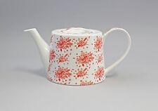 9952277 Porzellan Tee-Kanne Blumensträuße rot Jameson&Tailor 1,2l H12cm