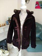 Burgundy Purple Per Una Winter Duffle Coat Size S 10-12