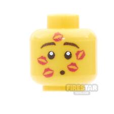 LEGO Minifigure Custom Printed Head - Valentines Kissa-nova