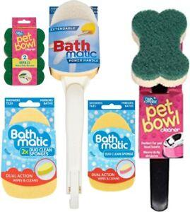 Easy Reach Extendable Handle BathMatic Baths Showers Mirrors Pet Bowl Cleaner