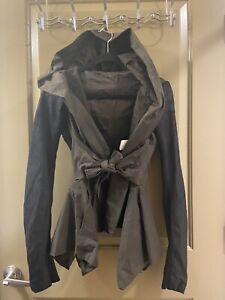 Rick Owens leather hoodie jacket sz 10 us / 44 IT