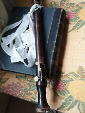 Antique wood tenor recorder vintage flute