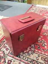"Vintage RED 12"" Vinyl LP Record Storage Box Carry Case"