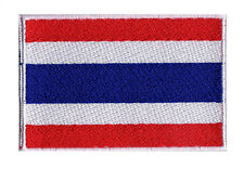Patch brodé écusson à coudre patche drapeau Thai THAILANDE 70 x 45 mm