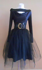 HARAH DESIGNS BELOW KNEE TULLE AND COTTON FORMAL BALLET EVENING SKIRT