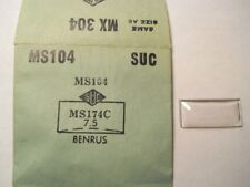 BENRUS SUC MS104 GS MX304 NOS Factory Replacement Watch Crystal 1.74 x 0.75 mm