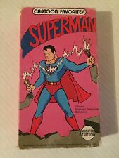 SUPERMAN, CARTOON FAVORITES, ANIMATED CARTOON, VHS 1990