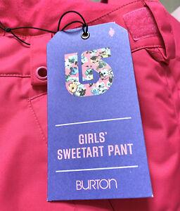 Burton Girls Pink Sweetart Snow Snowboard Ski Pants Size Large 14 16 Insulated