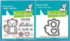 Lawn Fawn Photopolymer Clear Stamp & Die Combo ~ STINKIN' CUTE ~ LF1022, LF1023