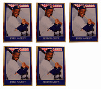 (5) 1992 Sports Cards #54 Fred McGriff Baseball Card Lot San Diego Padres