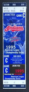 1995 ALCS Game 5 Seattle Mariners vs Cleveland Indians Ticket Stub 10/15/95