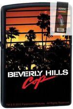 Zippo 9209 beverly hills cop movie black matte Lighter + FLINT PACK