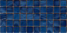 50pcs N55 Dark Blue Natura Opaque Glass Mosaic Tiles 15mmx15mmx4mm Paper faced