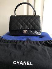 94e26025efdb0 Original Chanel coco handle mini classic flap bag Tasche Schwarz