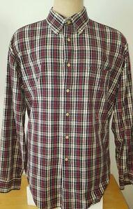 Tommy Hilfiger Men's Button Down Shirt Long Sleeve Plaid Red White Black XL 1X