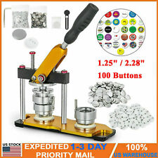 1.25 Inch/2.28 Inch Aluminum Alloy Button Maker Machine Rotate with 100 Buttons