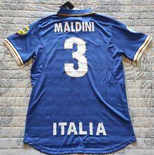 Maglia Casa Italia Euro 1996 - Retro Vintage Calcio Italy Paolo Maldini Tg M-L