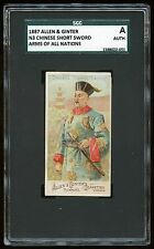 "1887 Allen & Ginter N3 Arms of All Nations ""Short Sword SGC A #1388022-051"