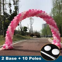 2Pcs Palloncino Arco Base Stand Kit Verticale Palo Display Festa Matrimonio Deco
