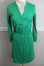 (z) LILLY PULITZER Women's Green 1/2 Button Dress Size S (DR200