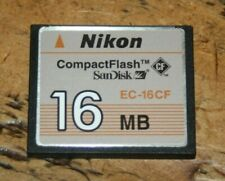 NIKON COMPACT FLASH SANDISK 16MB 16 MB