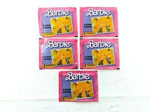 1989 BARBIE Album Stickers - Lot of 5 Packs