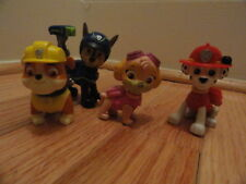 Paw Patrol 4 Pup Figures: Chase, Marshal, Sky & Rubble Pre-owned lot