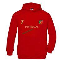 Sweat à capuche enfant Foot Portugal rouge