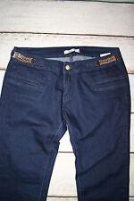 J-Welly Jeans Brand New Ladies Chain Details Slim Fit Dark Denim Jeans Size 12