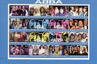 Chad 2018 CTO ABBA 16v M/S Music Pop Stars Celebrities Stamps